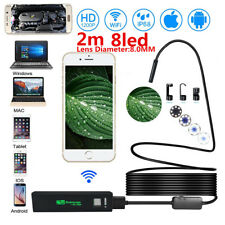 2M 8LED HD1200P Waterproof WiFi Endoscope Borescope For ios Android Windous New