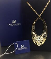 New Swarovski Crystal Necklace, Ariane Gold Tone Jewelry, Oval Pendant