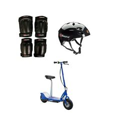 Razor E300S Adult Electric Power Scooter w/Seat, Helmet & Pads, Blue (2 Pack)