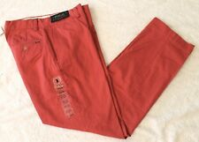 Polo Ralph Lauren Mens Nantucket Red Flat-Front Classic Chinos Pants NWT 30 x 30