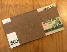 A Bundle of 100 PCS korea 50000 won 2003 savings bond  UNC. Part stained