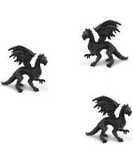 Doll House Shoppe Black Dragon Toy Set /3  SL350722 Micro-Mini Miniature gemjane