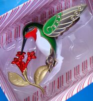 New Dazzling Hummingbird 2014 Beauty of Birds Series Metal Hallmark Ornament