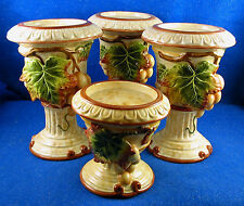 """Fitz and Floyd:  """"Venetian Romance"""" Set of TWO Pillar Candle holders  *ISW*"""