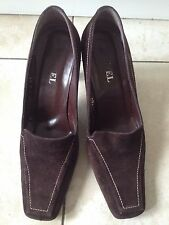 Ravel ladies Brown Suede Heeled Court Shoes Size 39C (6). Great Condition.