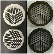 10 X 70mm UPVC Plastic Round Push Fit Soffit/ Roof/ Fascia Air Vents