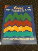 """Coors International Bicycle Classic 1985 Magazine W/ Poster """"COORS CLASSIC"""" NOS"""