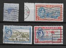 BAHAMAS , GEORGE VI , 1938/46 , SET OF 4 STAMPS ,  PERF, USED