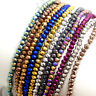 2mm3mm4mm6mm8mm10mm Rondelle faceted Crystal Glass Loose Beads Jewelry Making