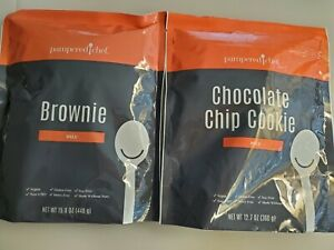 2 Pampered Chef GLUTEN FREE MIXES: 1 BROWNIE 1 CHOCOLATE CHIP COOKIE Delicious!