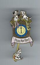 Disney 101 Dalmatians Pups Puppies Dog Clock Happy New Year LE 250 Movement Pin