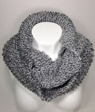 Handmade Knit Winter Scarf,  Winter Infinity Scarf, Grey Heather Winter Scarf