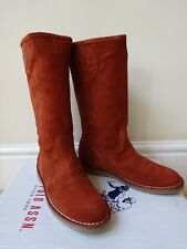 Ladies U.S POLO ASSN. Knee High Boots Burned Orange Size UK 5 eur38 RRP £ 220 New