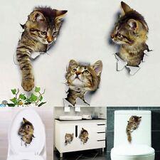 Wall Sticker Decal Decoration 3D Cat Kitten Bedroom  Fridge Home DIY Wallpaper