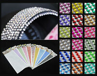 1000pcs 4mm Rhinestone Self Adhesive Diamantes Stick On Crystals Beads Nail Art