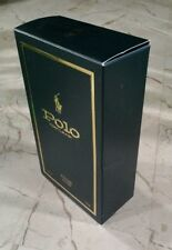 POLO RIDER Green Bottle BOX ONLY Ralph Lauren AFTER SHAVE  4 Oz EMPTY