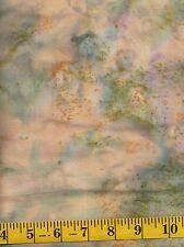 Island Batik Sweet Georgia Peach 121510267 Gold Leaves on Brown 1//2 yd