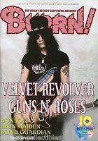 Burrn! Heavy Metal Magazine October 2006 Japan Slash Guns N' Roses Venom