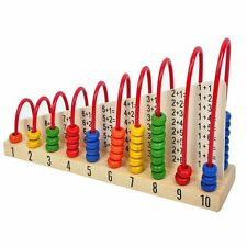 Kids Wooden Toys Child Abacus Counting Beads Maths Learning Educational Toy C0W7