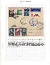 Graf Zeppelin 1933 1st Sa Flight Arnhem Holland Registered to Pernambuco Brazil