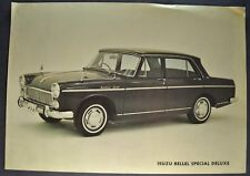 1964-1965 Isuzu Bellel Special Deluxe Sales Brochure Sheet Diesel Nice Original