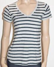 Meg & Wally Brand Classic V Stripe Short Sleeve Tee Size S BNWT #SD56