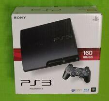 Sony PlayStation 3 Slimline 160 GB Charcoal Black Spielekonsole in OVP Komplett