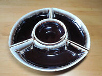 Pfaltzgraff USA GOURMET BROWN DRIP 4 PC Lazy Susan Set    turntable not included