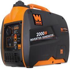 wen super quiet gas powered inverter generator 2000 w oil funnel automatic volt