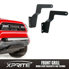 LED Work Light bar Grille Lower Bumper Mounting Brackets For 05-15 Toyota Tacoma