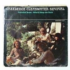 "CREEDENCE ClEARWATER  CCR Travelin' Band / Who'll Stop Rain 7"" 45rpm Vinyl 1970"