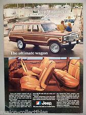 Jeep Wagoneer Limited PRINT AD - 1980