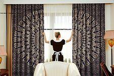 Tür hängen Fenster Behandlung Baumwolle Vorhang Indische Gold Pfau Mandala Kunst