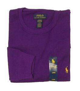 Polo Ralph Lauren Big & Tall Purple Waffle Knit Thermal Crew-Neck L/S T-Shirt