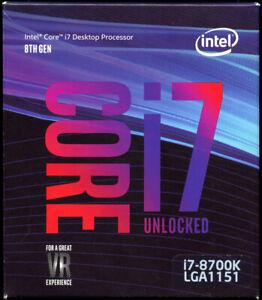 Intel Core i7 8th Gen - Core i7-8700K 3.7 GHz (4.7 GHz) LGA 1151 (300 Series)