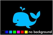 Whale Sticker Vinyl Decal Car Window Wall Decor Love Cute Animal Nursery Nautica