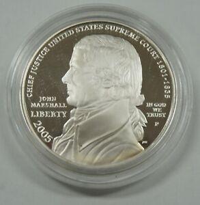 2005-P Capsule Commemorative Chief Justice John Marshall Silver Dollar Proof