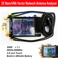 2Pc Nanovna 50Khz-900Mhz Vector Network Analyzer Vna Uv Uhf Hf Antenna Analyzer