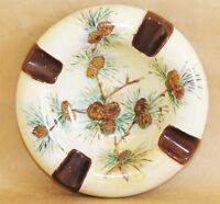 Vintage Fraureuth German Porcelain Pinecone Cigar Ashtray c. 1899-1926 Rare