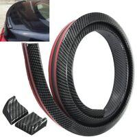 5FT Universal Carbon Fiber PU Car Rear Roof Trunk Spoiler Wing Lip Sticker Kit