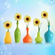 5pcs Cute Artificial Silk Sunflower Flower Home Bar Shop Floral Decor Ornament