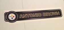 "Antonio Brown FATHEAD Official Player Name Banner 29.5"" x 6"" NFL Sign STEELERS"