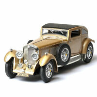 1:32 Scale Vintage Bentley 8-Litre 1930 Model Car Diecast Gift Toy Vehicle Gold