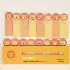120 Sheets Lions Wild Animals Mini Sticky Notes Page Marker Memo Tab Sticker UK