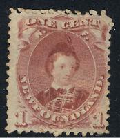 NEWFOUNDLAND 1868 - 94 1c BROWN LILAC EDWARD VII