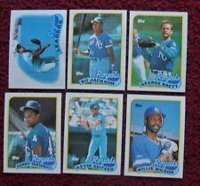 1989 Topps Kansas City Royals Baseball Team Set (25 Cards) ~ BO Jackson BRETT ++