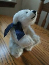 Boyds Collection Jointed Polar Bear 1364  Archive Series-blue ribbon