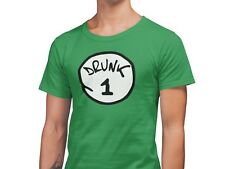 St Patrick's Day Funny T-Shirts Drunk 1 & 2 Comedy Drinking T-Shirts Unisex Fit