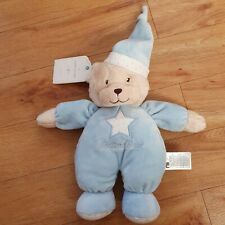 Tagged MOTHERCARE BLUE BEDTIME TEDDY BEAR SOFT TOY COMFORTER BABY PLUSH SOOTHER