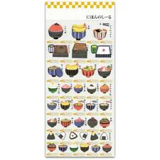 CUTE JAPANESE FOOD STICKERS Sheet Paper Craft Scrapbook Ramen Donburi Sushi Seal